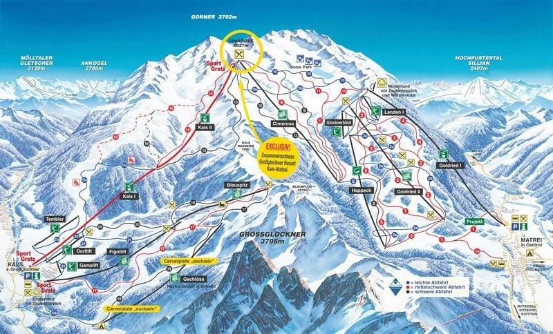 Skirejser grupperejser matrei Oestrig pistekort