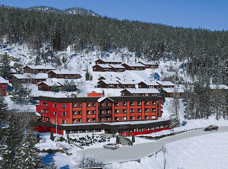 Vrådal Ferielejligheder - Vrådal - skirejse - AlfA Travel - Facade vinter