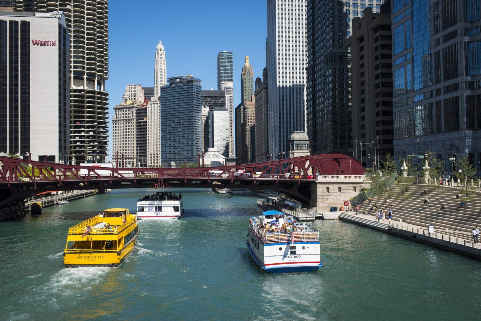 Studietur Chicago River cruise