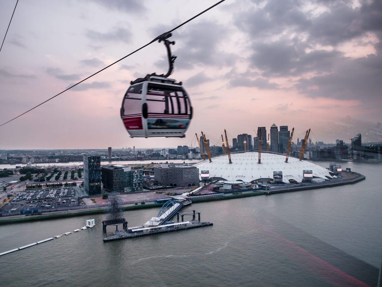 Studietur London Emirates Airline svævebane