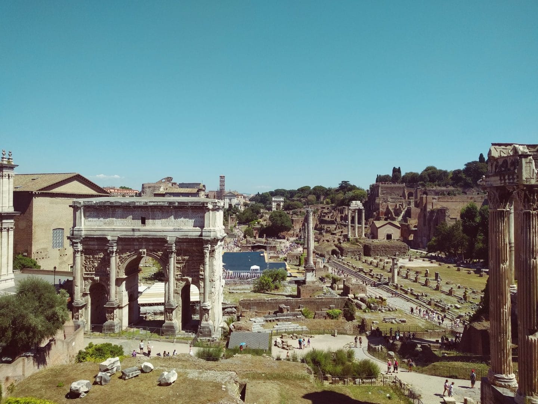Forum Romanum Rom Studierejse Antikken
