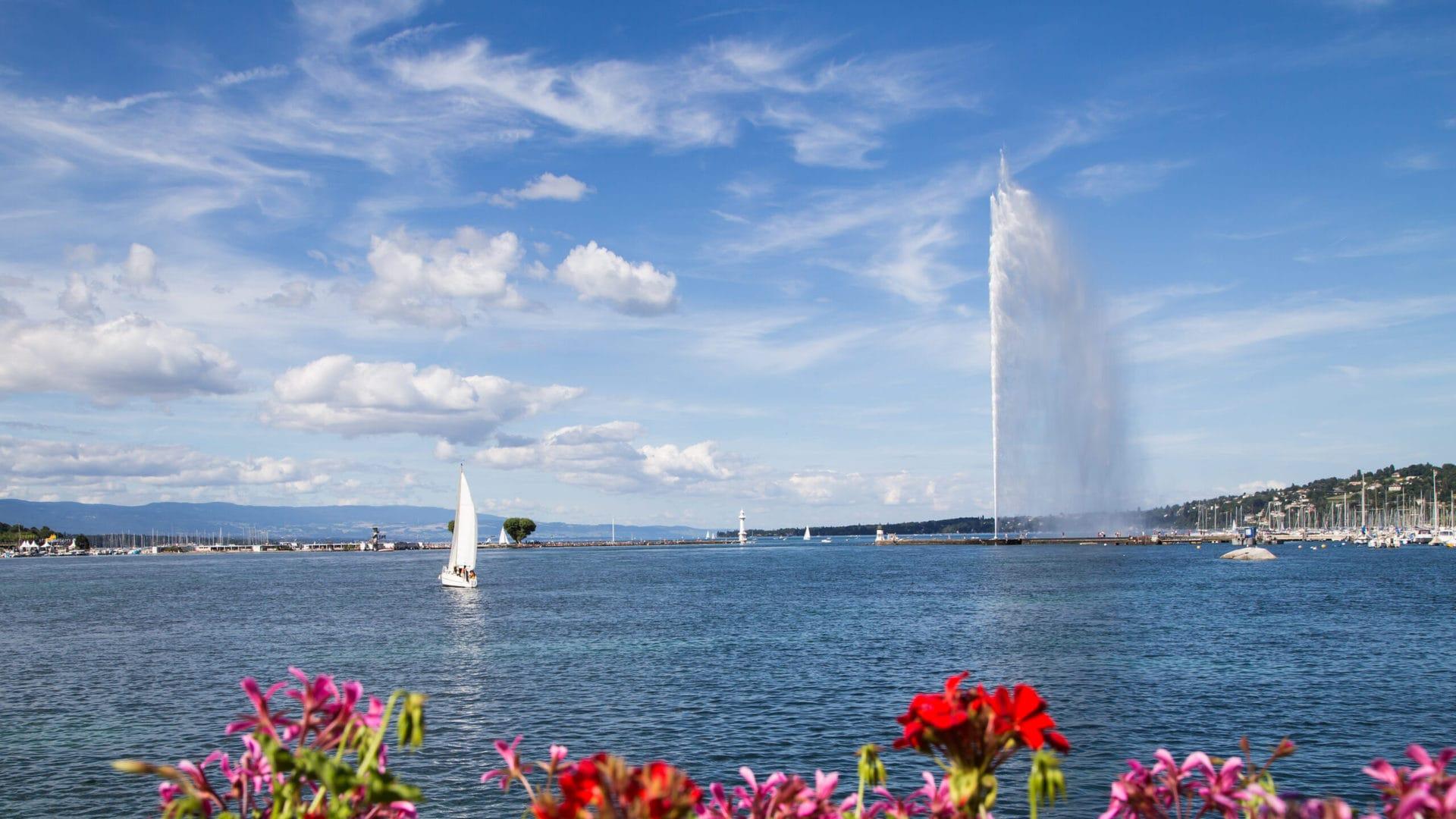 Studietur Geneve Jet d'eau