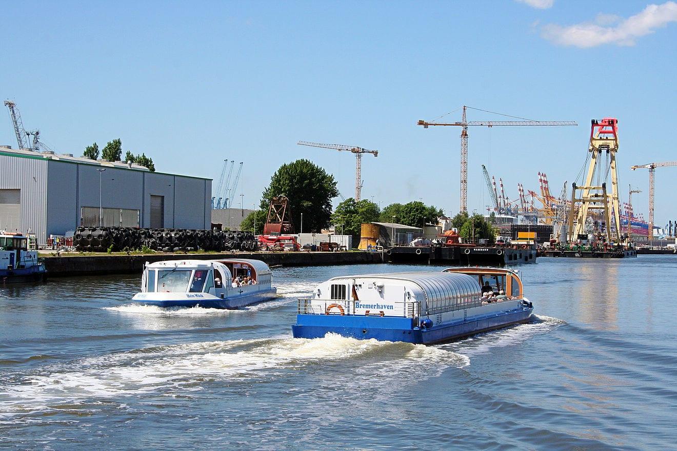 Studietur Bremen Havnerundfart Bremerhaven
