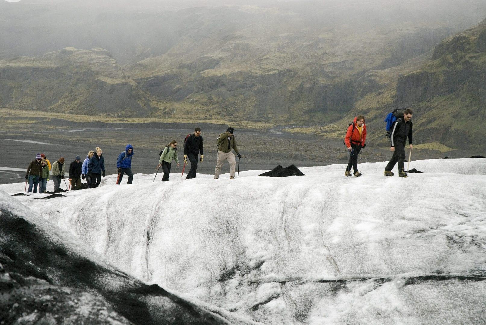 Studietur Reykjavik Island gletsjer