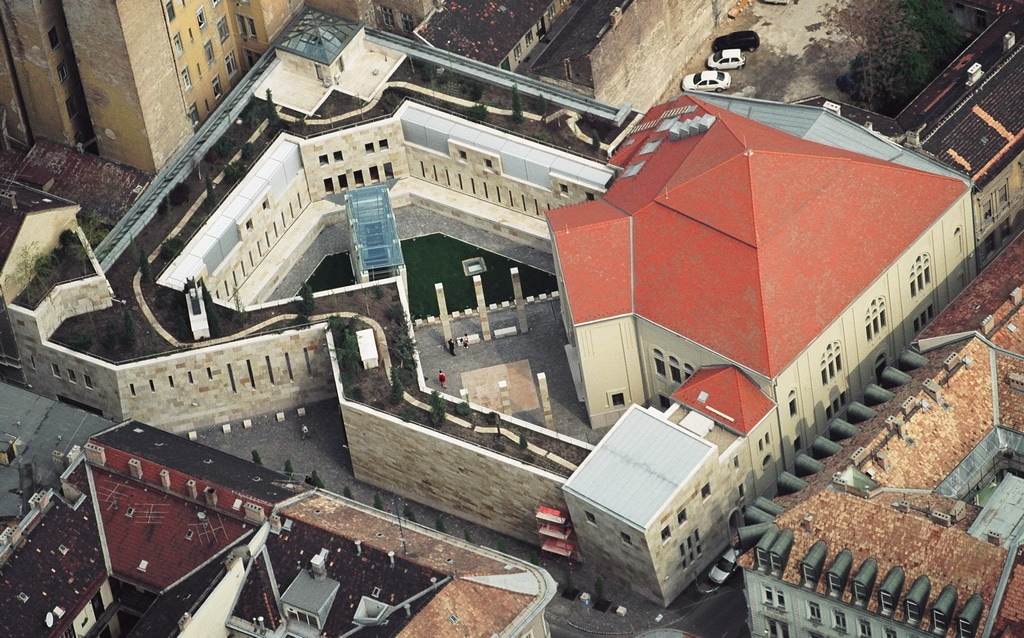 Holocaust Memorial Center Budapest_oppefra_studierejser_alfatravel