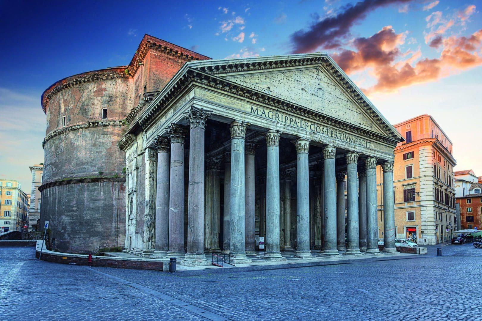 Pantheon Tempel Rom Studiebesøg Antik