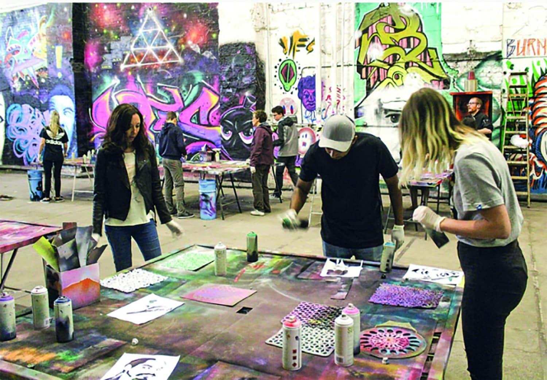 Studietur Berlin Gaffiti workshop