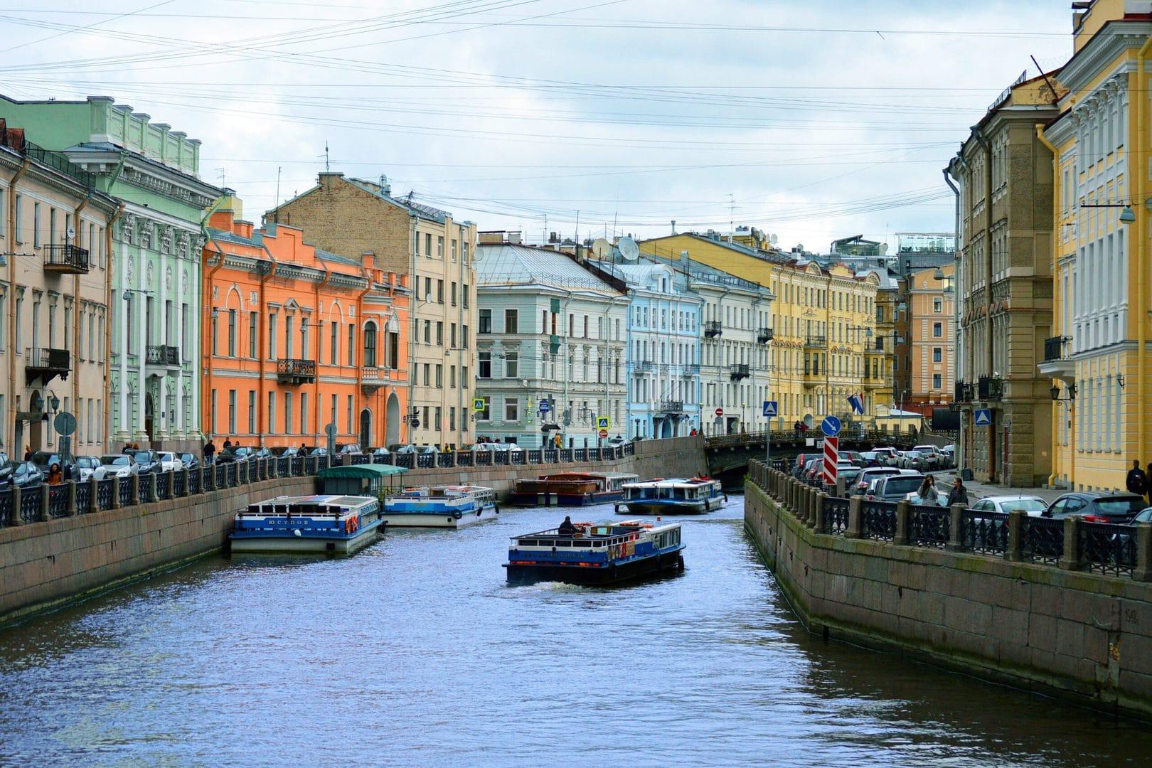 Sejltur på Skt. Petersborgs kanaler
