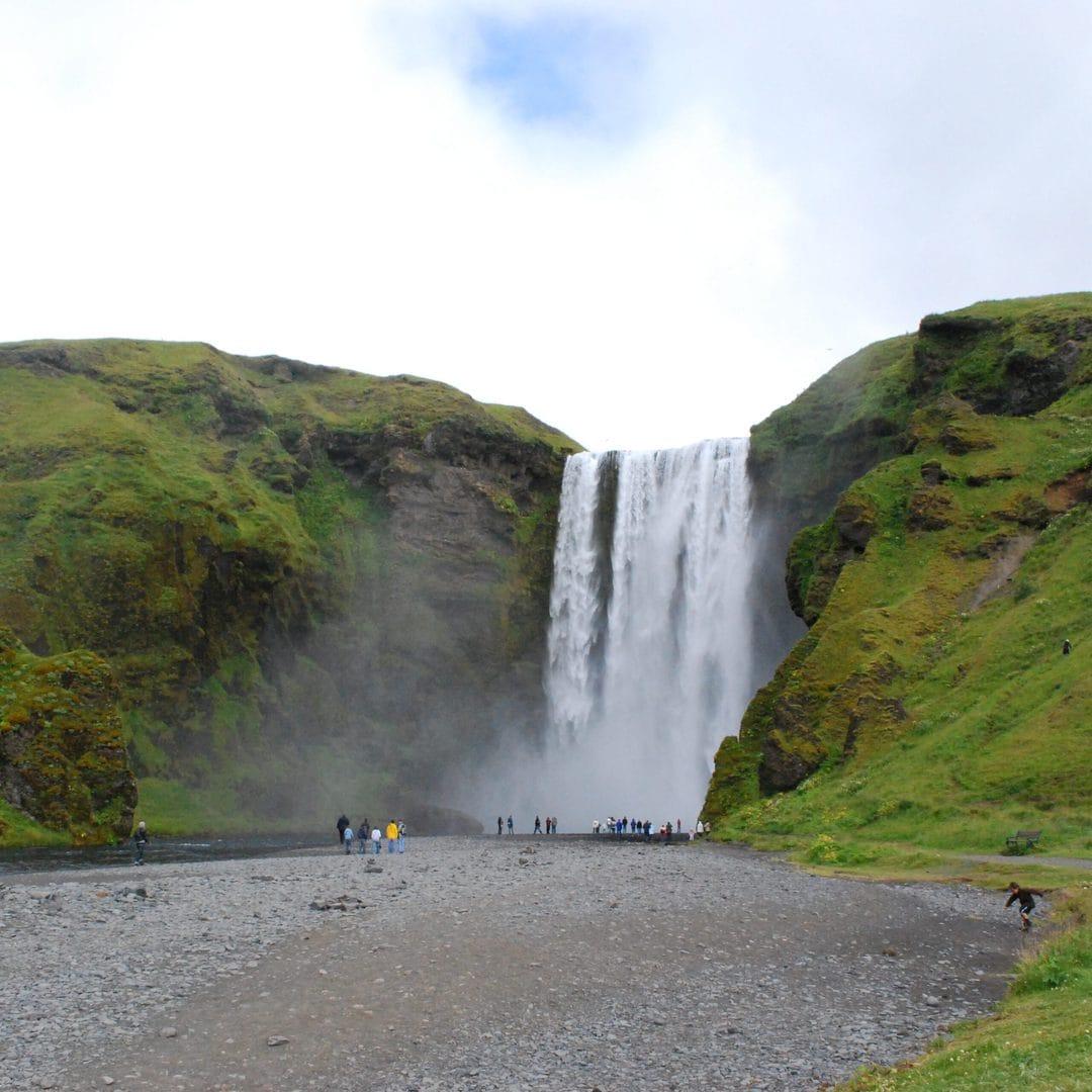 Studietur Reykjavik Island Skogafoss