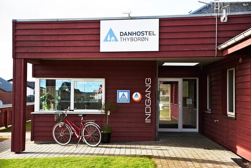 Studierejse Danmark Danhostel Thyborøn indgang