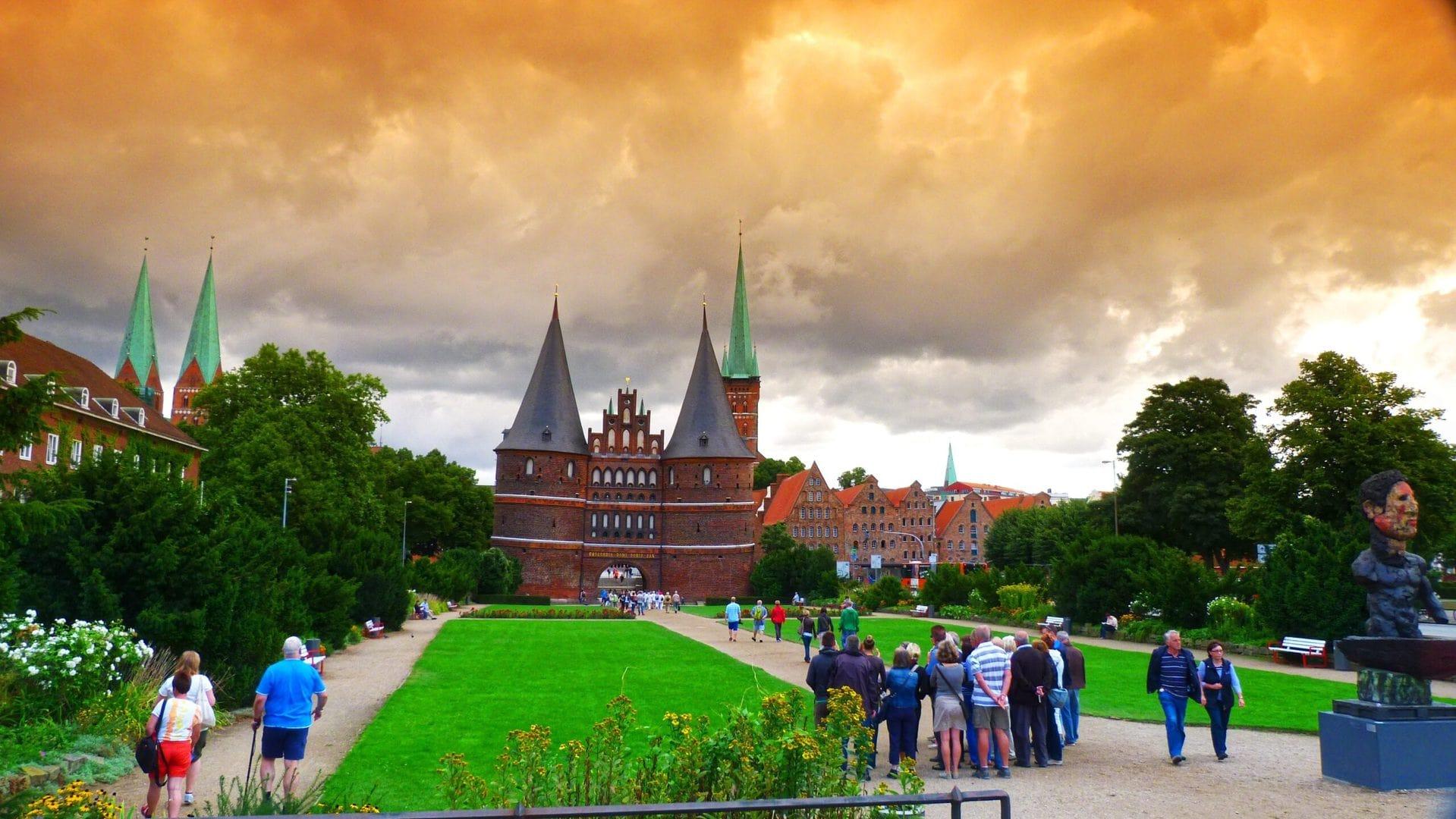 Studierejse Slesvig Holsten - Gottop Slot med mennesker