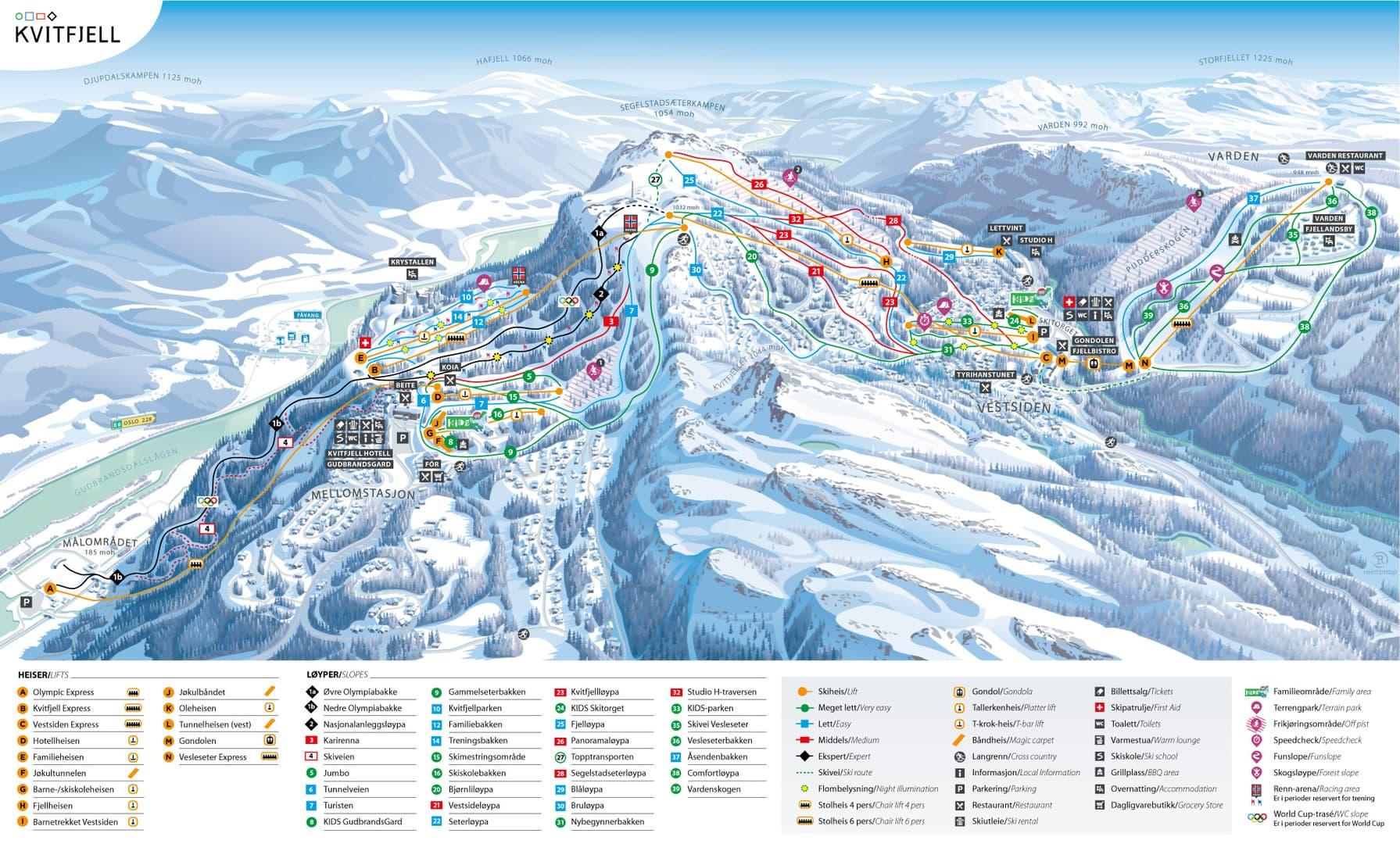 Kvitfjell_pistekort_skolerejser_skirejser